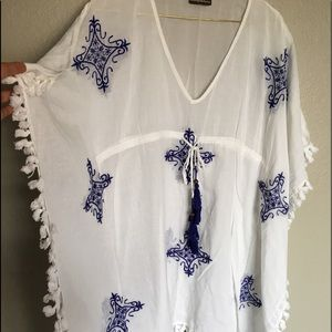 Tommy Bahama Embroidered Tunic - Swimsuit Cover.